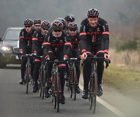 The NFTO team on a training ride. Image: Eddie Dunbar