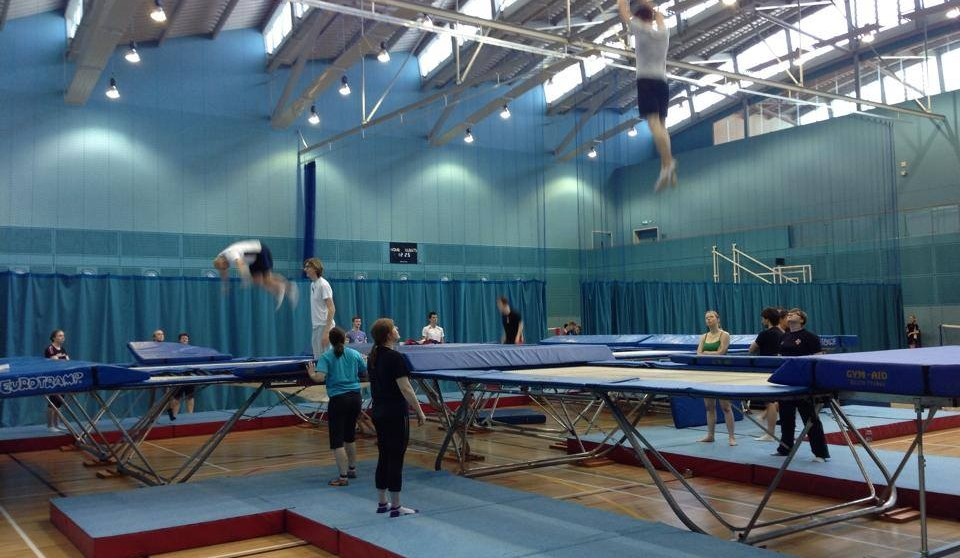 CUTC mid-training with their six trampolines