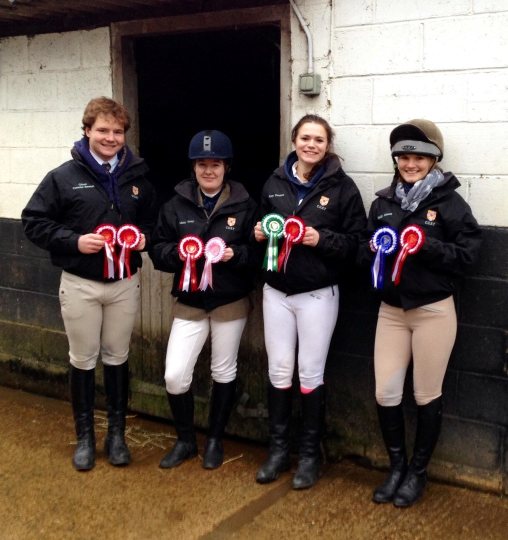 The winning Seconds (L-R Ollie, Mary, Katy, Holly)