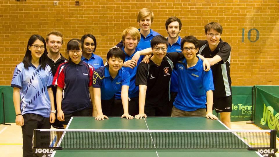Members of this years Table Tennis team