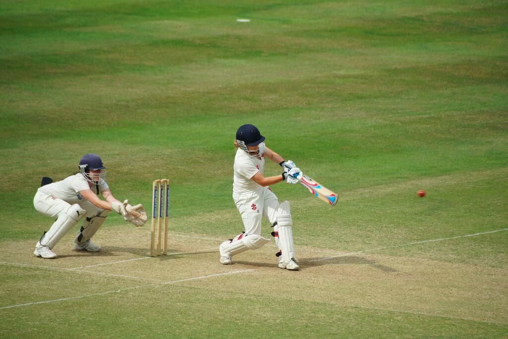 CUWCC's opening batsman in action!