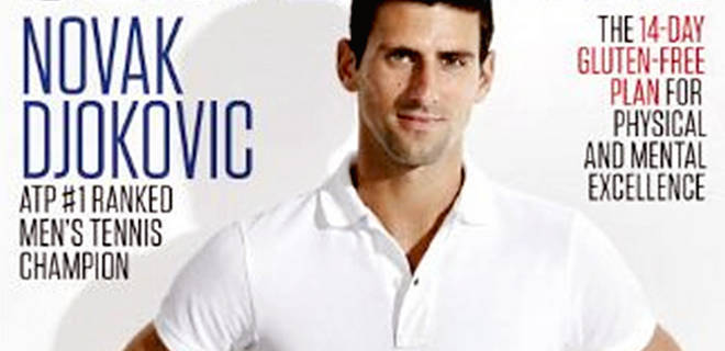 Djokovic is a proponent of a gluten free diet