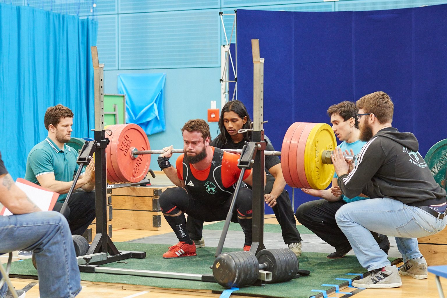 Wilberth Solano, 2014/15 President, winning his blue with this 205kg squat