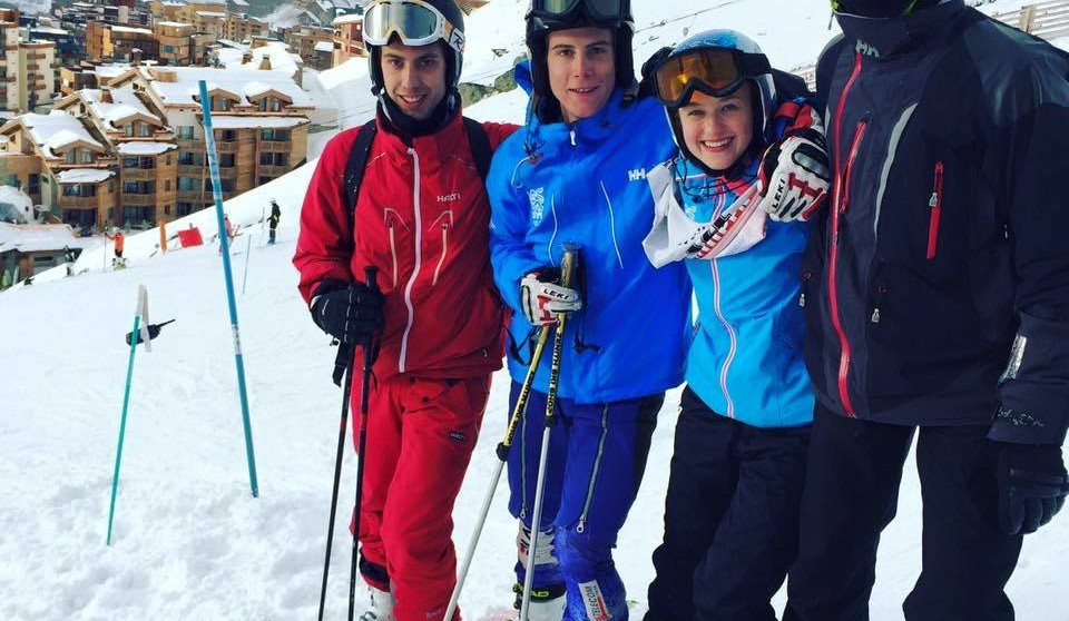 St John's Ski Team: Simon Pancewicz, Moritz Reiterer, Kyra Morris and Joshua Mustill (C)