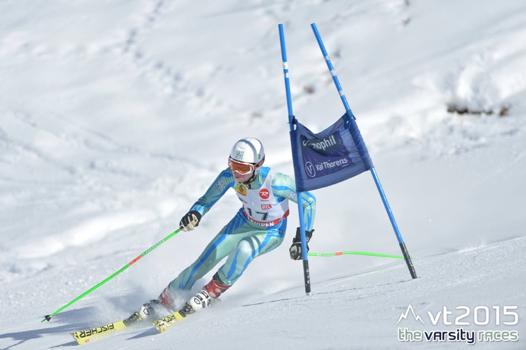 Robbie Jones competing in the Giant Slalom