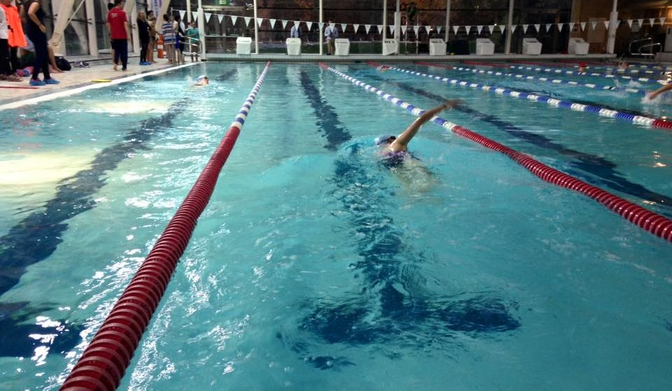 The swim phase underway at Parkside Pools