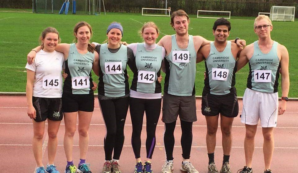 Team CUMPC post run L-R: Hannah Clifford, Claire Worrall, Heather Keenan, Alice Watson, Anthony Shillito, Kshitij Sabnis and Josh Briegal.