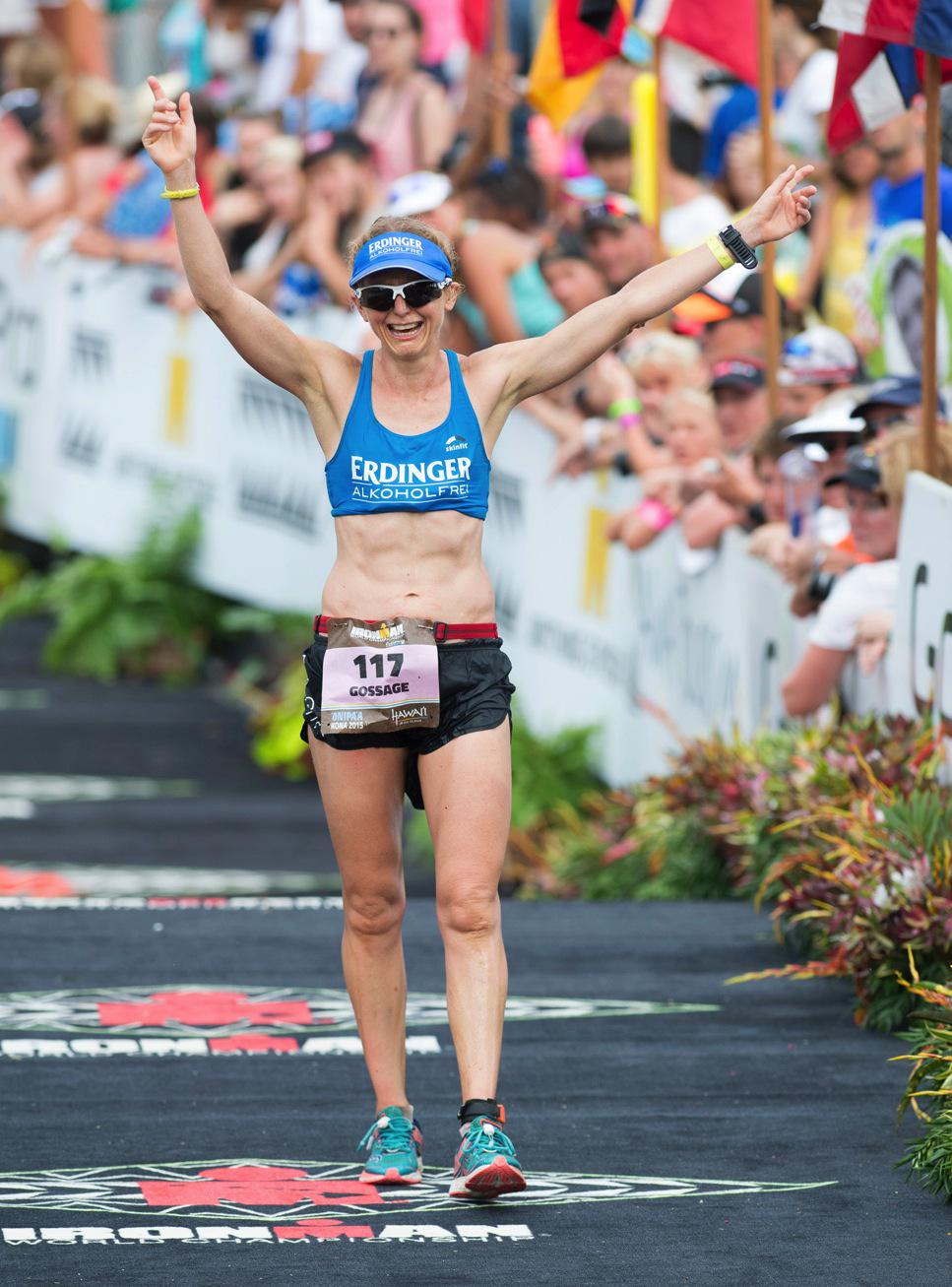 Lucy Gossage competing at the Ironman World Championships in Kona