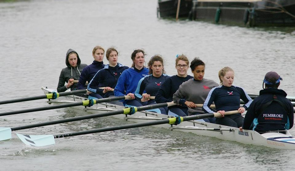 Charlotte rowing with Pembroke W1
