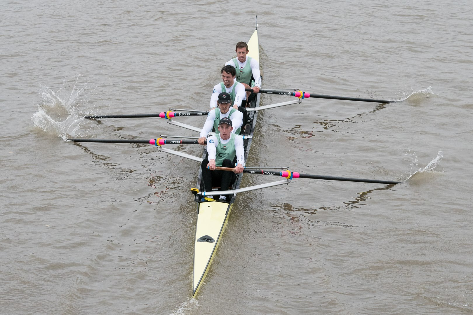 Winners of the Elite Coxed Four pennant (Henry Meek, Lance Tredell, Pat Eble, Ben Ruble and Ian Middleton). Photo: Mark Ruscoe