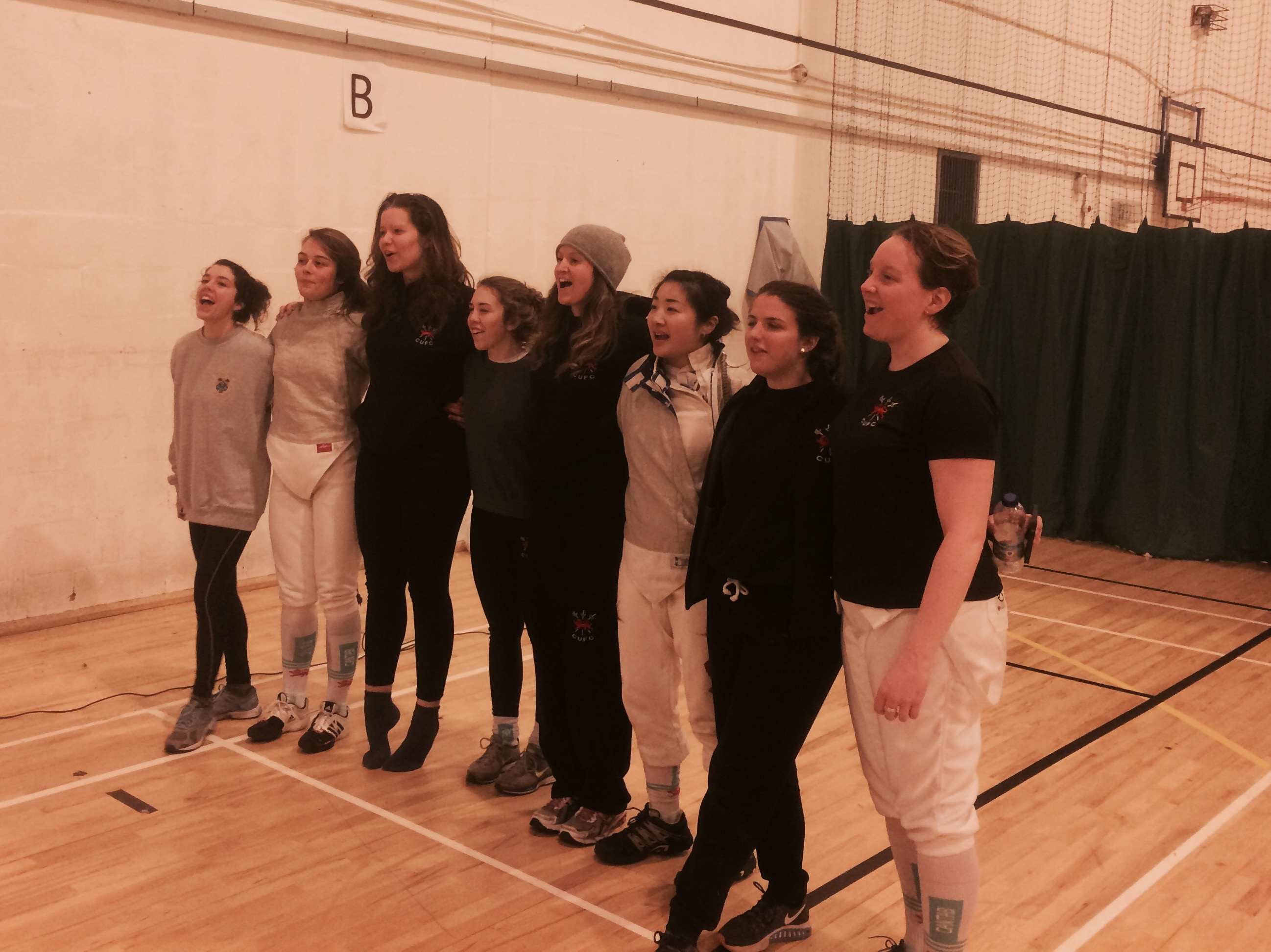 The women's Fencing squad from last weekend.