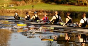 Clare M1 in action. Credit: Newnham College Boat Club
