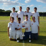 A Smashing Victory for the Men's Tennis Blues