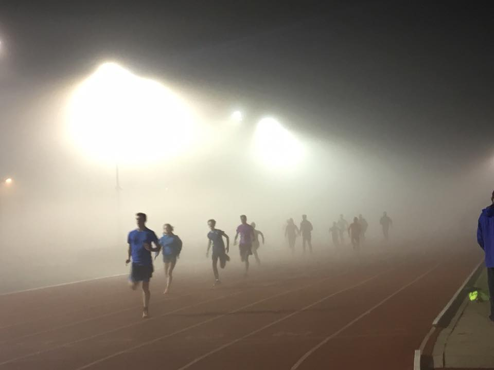 Braving the cold, dark, and foggy in the name of what exactly? (Credit: CUAC)