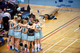 Netball Varsity Team Huddle (Credit: Joe Stankiewicz)