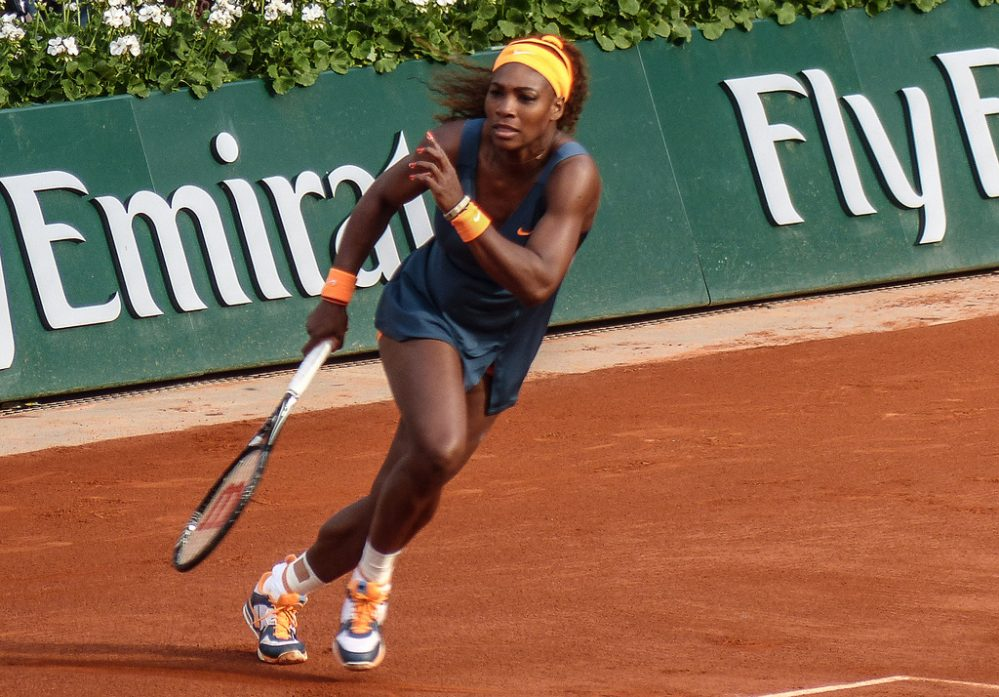 Serena Williams at Roland Garros (Credit: Yann Caradec)